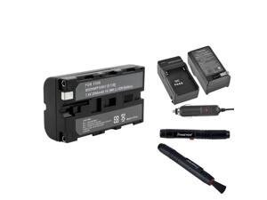 eForCity NP-F530 Battery + Charger Compatible With Sony Camera + Free Camera Len Cleaning Pen Kit