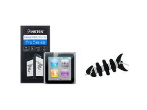 eForCity Black Headset Smart Wrap+2X Reusable Screen Protector Compatible With Apple® iPod Nano 6th Generation