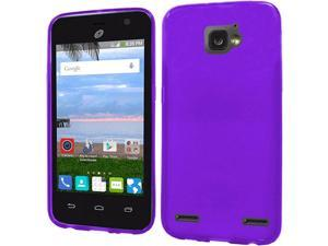 ZTE Paragon/Sonata 4G/Zephyr Case, eForCity Frosted TPU Rubber Candy Skin Case Cover For ZTE Paragon/Sonata 4G/Zephyr, Purple