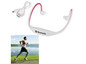eForCity Universal Sport Wireless Bluetooth Headset w/ Mic for Handsfree calling & Music for Galaxy Note 4 / 3 / LG Nexus 5 / 4 Cell , White/Red