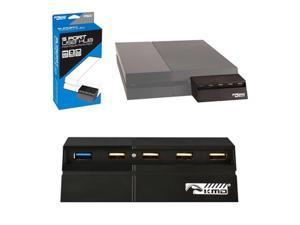 KMD 5-Port USB Hub Adapter For Sony PlayStation 4 Black