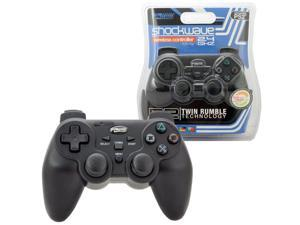 KMD Wireless 2.4GHZ Shock-wave Controller For Sony PlayStation 2 Black