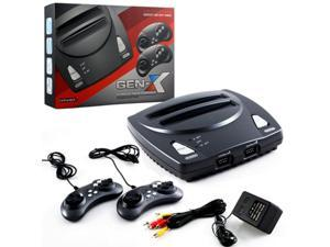 Retro-Bit 2 In 1 8-bit And 16-Bit Controllers AC Adapter And AV Cables For Sega Genesis cartridges