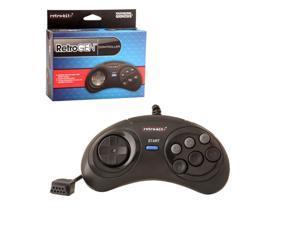 Retro-Bit 6 Feet Wired 6 Button Controller For Sega Genesis System