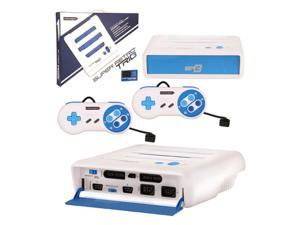 Retro-Bit 3 In 1 Home System Console For NES/SNES/Genesis White/Blue