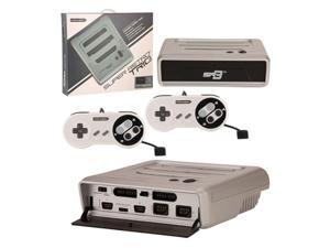 Retro-Bit 3 In 1 Home System Console For NES/SNES/Genesis Silver/Black