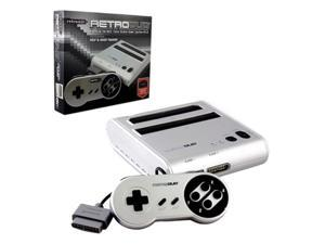 Retro-Bit RetroDuo 2 In 1 System For SNES And NES Games Silver/Black