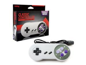 TTX Tech Wired Classic Style Controller For Super Nintendo Entertainment System Gray