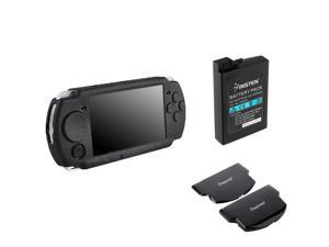 Black Skin+Rechargeable Battery+Cover for SONY PSP 3000