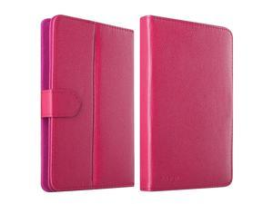eForCity Leather Stand Flip Case For iPad Mini 3 Google Nexus 7 Dell Venue 7 HP Slate7 Galaxy Tab 3 7-inch Tablet, Hot Pink