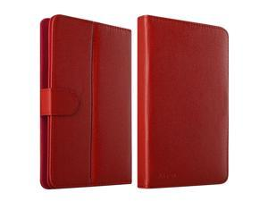 eForCity Leather Stand Flip Case For iPad Mini 3 Google Nexus 7 Dell Venue 7 HP Slate7 Galaxy Tab 3 7-inch Tablet, Red