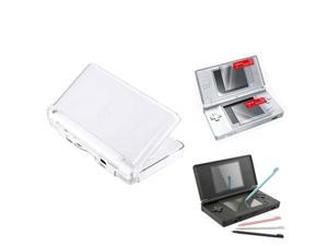 Clear Hard Case+4 Stylus Pen+Screen Protector LCD Film Guard for DS LITE NDSL