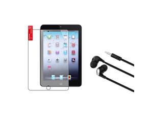 eForCity Anti-Glare Screen LCD Protector+Black/Silver Headphone For Apple iPad Mini 1 / Apple iPad Mini 2 / iPad Mini with Retina Display (iPad Mini 3)
