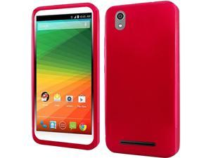 ZTE Lever LTE Case, eForCity Frosted TPU Rubber Candy Skin Case Cover For ZTE Lever LTE, Red