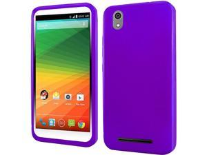 ZTE Lever LTE Case, eForCity Frosted TPU Rubber Candy Skin Case Cover For ZTE Lever LTE, Purple