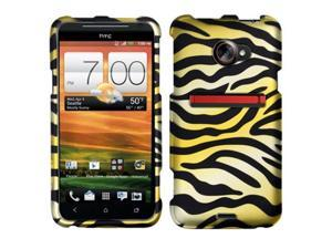 HTC EVO 4G Case, eForCity Zebra Rubberized Hard Snap-in Case Cover For HTC EVO 4G, Yellow/Black