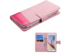 eForCity Folio Leather Case For Apple iPhone 6 / 6s HTC Desire 510 / 610 (ATT) HTC EVO 4G HTC One M7 / M8 / X / XL LG Optimus F7 Motorola Moto X (1st Gen) Samsung Galaxy S3 / S4, Pink