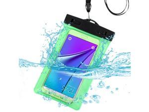 eForCity Green Waterproof Pouch Bag Case with Armband Lanyard For iPhone 6 6s (4.7-inch) iPhone 6 Plus 6s Plus (5.5-inch) Galaxys S6 Note 5 4 LG Nexus 5 HTC One M9 Moto G