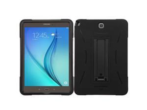 Samsung Galaxy Tab A 9.7 Case, eForCity Symbiosis Dual Layer [Shock Absorbing] Protection Hybrid Stand Rubber Silicone/PC Case Cover For Samsung Galaxy Tab A 9.7, Black