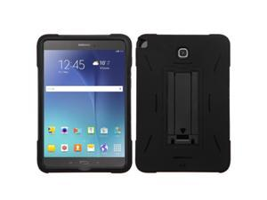 Samsung Galaxy Tab A 8 Case, eForCity Symbiosis Dual Layer [Shock Absorbing] Protection Hybrid Stand Rubber Silicone/PC Case Cover For Samsung Galaxy Tab A 8, Black
