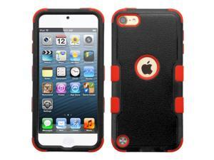 Apple iPod Touch 5th Gen / 6th Gen Case, eForCity Tuff Dual Layer Protection Hybrid Rubberized Hard PC/Silicone Case Cover For Apple iPod Touch 5th Gen / 6th Gen, Black/Red