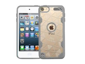 Apple iPod Touch 5th Gen / 6th Gen Case, eForCity Crystal PC/TPU Rubber Case Cover For Apple iPod Touch 5th Gen / 6th Gen, Clear/Gray