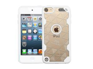 Apple iPod Touch 5th Gen / 6th Gen Case, eForCity Crystal PC/TPU Rubber Case Cover For Apple iPod Touch 5th Gen / 6th Gen, Clear/White