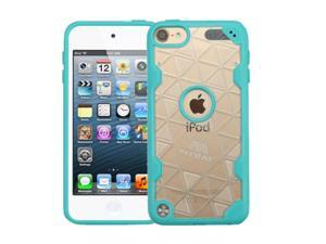 Apple iPod Touch 5th Gen / 6th Gen Case, eForCity Crystal PC/TPU Rubber Case Cover For Apple iPod Touch 5th Gen / 6th Gen, Clear/Teal