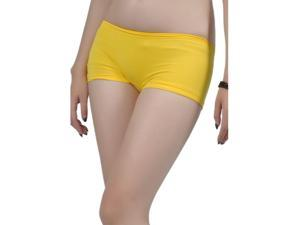 SoHo Junior Basic Mini 4 Inch Boy Shorts (One Size Fits All) - Neon Yellow