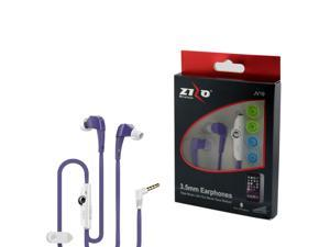 eForCity 3.5mm JV19 Stereo Hands-free Earbuds w/ Mic For HTC One M9 M8 iPhone iPod Samsung Galaxy S6 S5 S4 MP3 Tablet - Purple