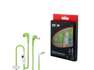 eForCity 3.5mm JV19 Stereo Hands-free Earbuds w/ Mic For HTC One M9 M8 iPhone iPod Samsung Galaxy S6 S5 S4 MP3 Tablet - Neon Green