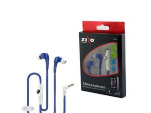 eForCity 3.5mm JV19 Stereo Hands-free Earbuds w/ Mic For HTC One M9 M8 iPhone iPod Samsung Galaxy S6 S5 S4 MP3 Tablet - Blue
