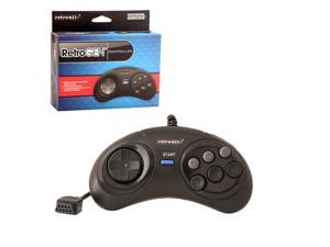 Retro-Bit 2-Pack 6 Feet Wired 6 Button Controller For Sega Genesis System