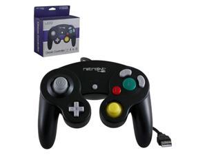 Retro-Link 2-Pack Wired Nintendo GameCube Style USB Controller For PC And Mac Black