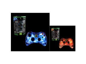 PDP 2-Pack Microsoft Afterglow Wired Controller For Microsoft Xbox 360 (Blue+Red)