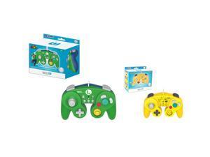 HORI 2-Pack Classic Controller Wired Controller For Nintendo Wii / Wii U (Luigi+Pikachu)