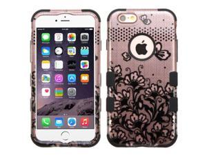 Apple iPhone 6 Plus / 6s Plus (5.5-inch) Case, eForCity Tuff Lace Flowers Dual Layer Protection Hybrid Rubberized Hard PC / Silicone Case Cover for Apple iPhone 6 Plus / 6s Plus (5.5-inch), Black