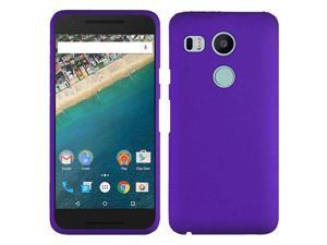 LG Google Nexus 5X Case, eForCity Rubberized Hard Snap-in Case Cover for LG Google Nexus 5X, Purple