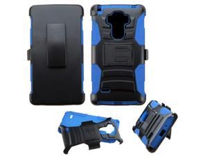 LG G Stylo / G Vista 2 Case, eForCity Dual Layer [Shock Absorbing] Protection Hybrid PC / Silicone Holster Case Cover for LG G Stylo Stylus LS770 / G Vista 2, Black / Blue