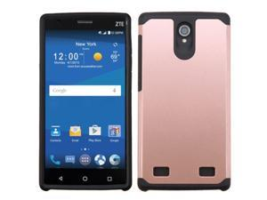 ZTE ZMAX 2 Case, eForCity Dual Layer [Shock Absorbing] Protection Hybrid Rubberized Hard PC / Silicone Case Cover for ZTE ZMAX 2, Rose Gold / Black