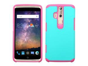 ZTE Axon Pro Case, eForCity Dual Layer [Shock Absorbing] Protection Hybrid Rubberized Hard PC / Silicone Case Cover for ZTE Axon Pro, Teal / Pink