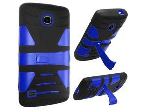 Huawei Union Case, eForCity Dual Layer [Shock Absorbing] Protection Hybrid Stand Rubberized Hard PC / Silicone Case Cover for Huawei Union, Black / Blue