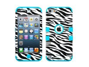 Apple iPod Touch 5th Gen/6th Gen Case, eForCity Tuff Zebra Dual Layer [Shock Absorbing] Protection Hybrid PC/Silicone Case Cover for Apple iPod Touch 5th Gen/6th Gen, Black/White