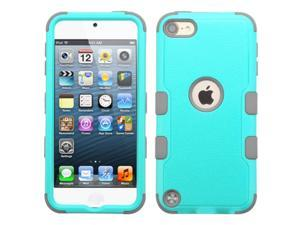 Apple iPod Touch 5th Gen/6th Gen Case, eForCity Tuff Dual Layer [Shock Absorbing] Protection Hybrid Rubberized Hard PC/Silicone Case Cover for Apple iPod Touch 5th Gen/6th Gen, Teal/Gray
