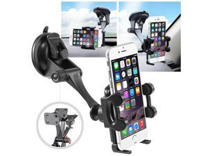 """eForCity Universal Car Windshield Cell Phone Holder [1.57 to 4.32]"""" Suction Cup Mount with Plate for Apple / HTC / LG / Motorola / Samsung"""