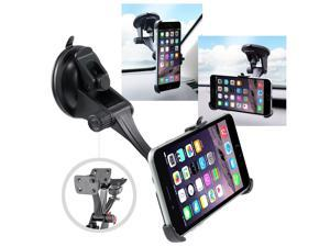 eForCity Universal Suction Phone Holder Mount with  Phone Holder Plate for Apple iPhone 6 Plus (5.5-inch), Black
