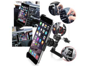 eForCity Phone Holder Plate with  Swivel Car Air Vent Phone Holder Mount for Apple iPhone 6 Plus (5.5-inch), Black