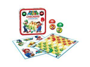 Nintendo Super Mario Checkers/Tic Tac Toe Combo Board Game