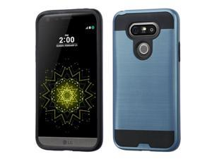 LG G5 Case, eForCity Dual Layer [Shock Absorbing] Protection Hybrid Rubberized Hard PC / Silicone Case Cover Compatible With LG G5, Blue / Black