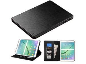 """Samsung Galaxy Tab S2 9.7"""" Case, eForCity Stand Folio Flip Leather [Card Slot] Wallet Flap Pouch Case Cover Compatible With Samsung Galaxy Tab S2 9.7"""", Black"""